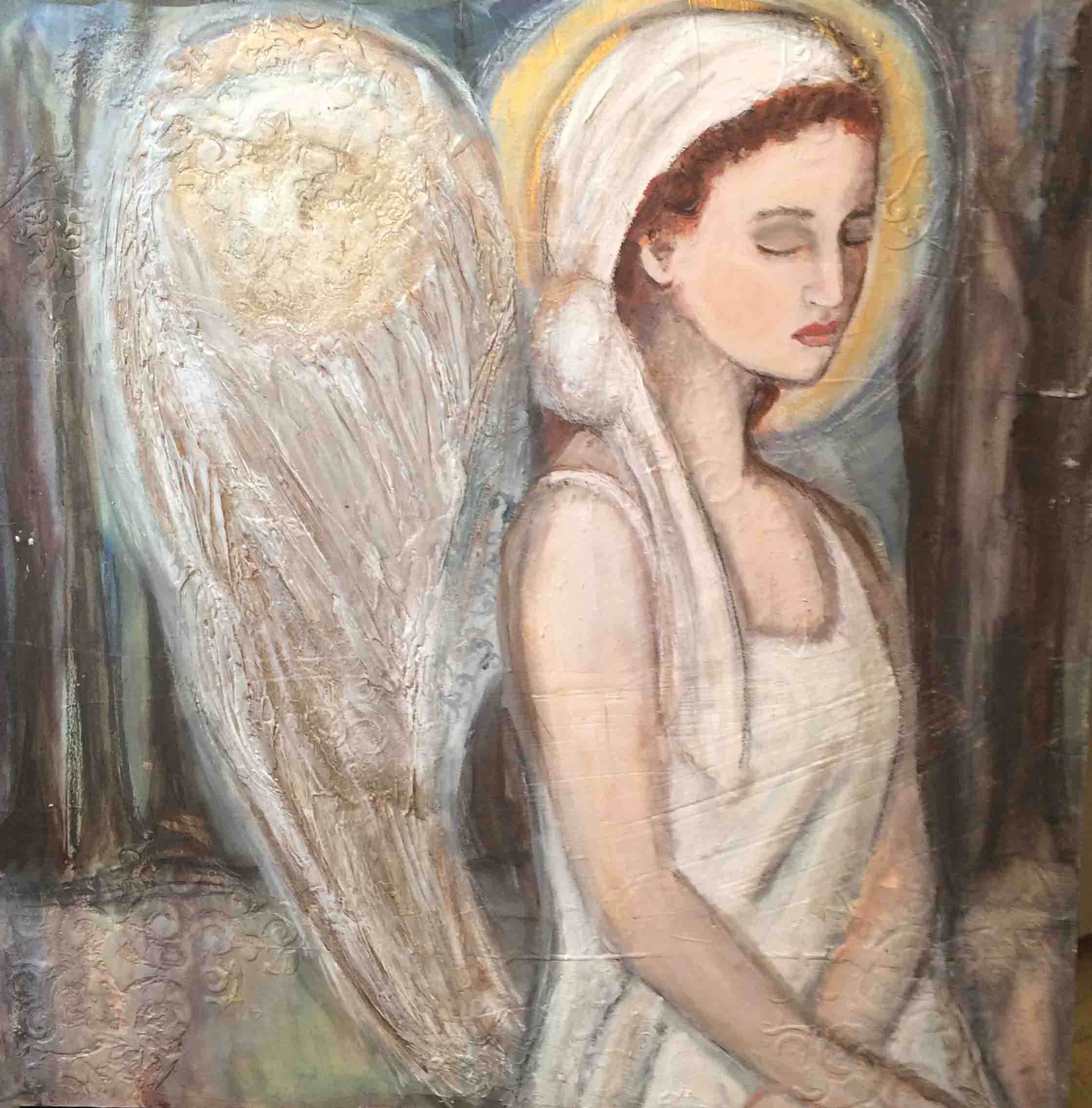 Angel in the Woods, Original painting SOLD