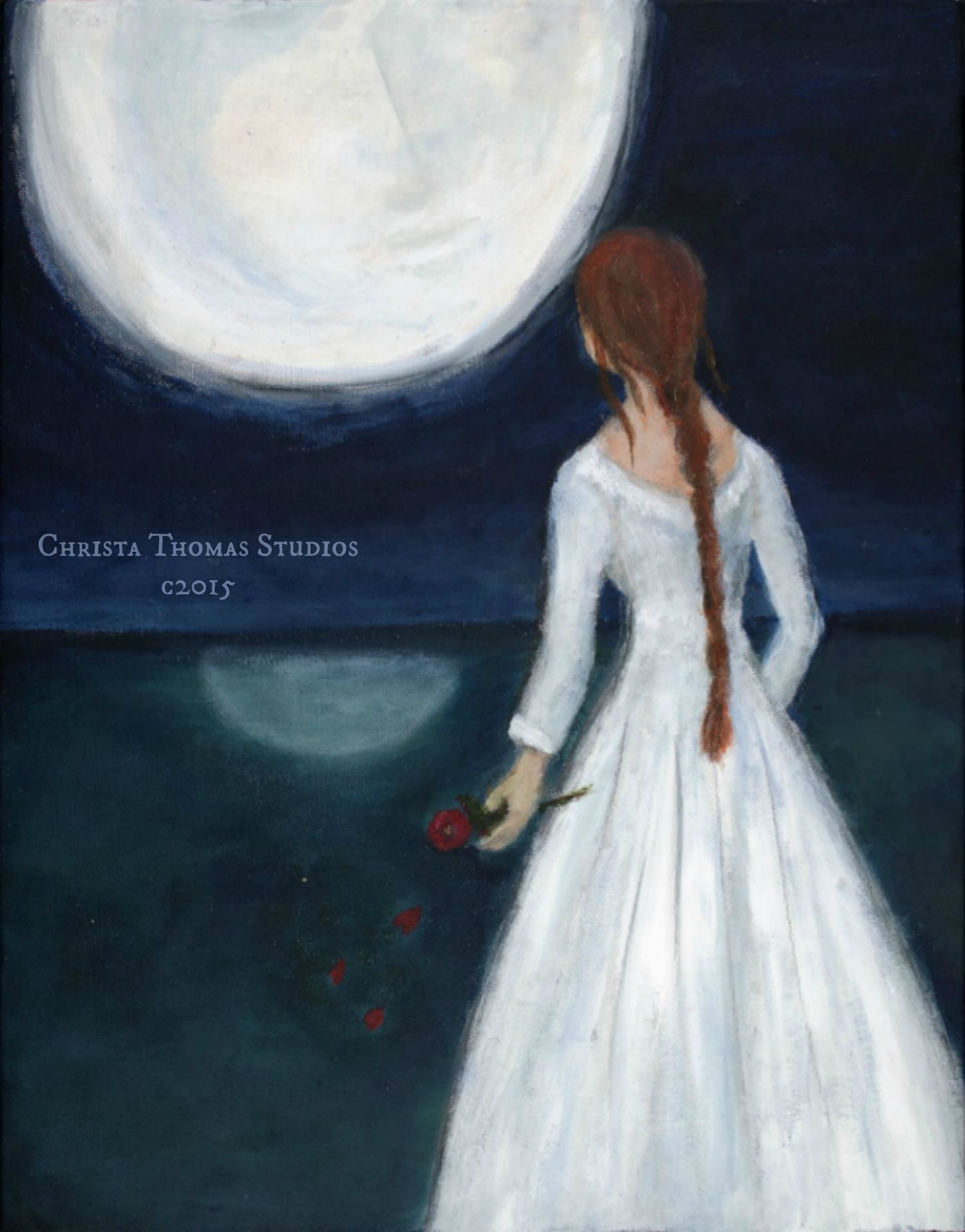 A Conversation With the Moon - limited edition giclee canvas
