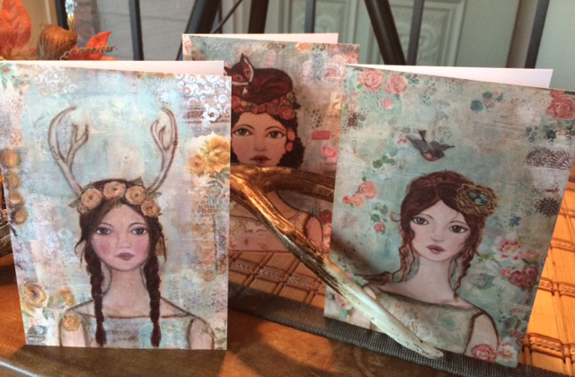 Nature Girls Greeting Cards set of 3