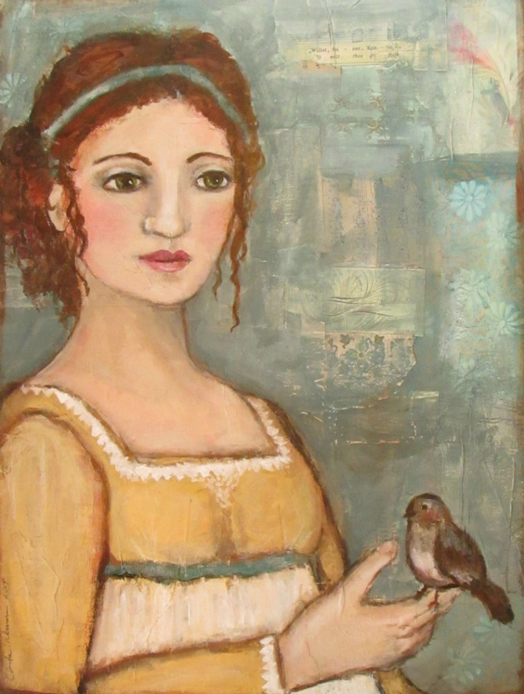 Emma and Her Pet Bird fine art print